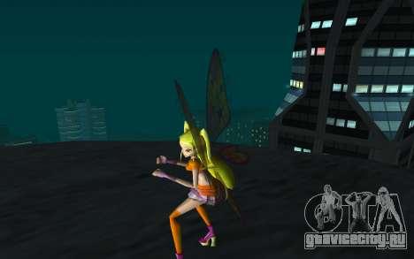 Stella Believix from Winx Club Rockstars для GTA San Andreas третий скриншот