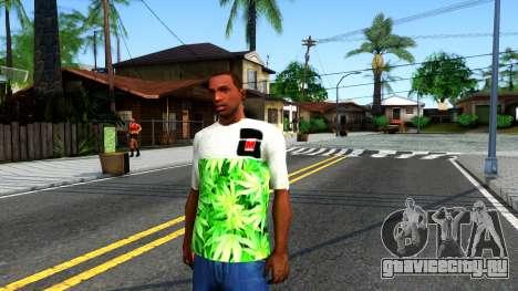 Design Weedleaves T-Shirt для GTA San Andreas