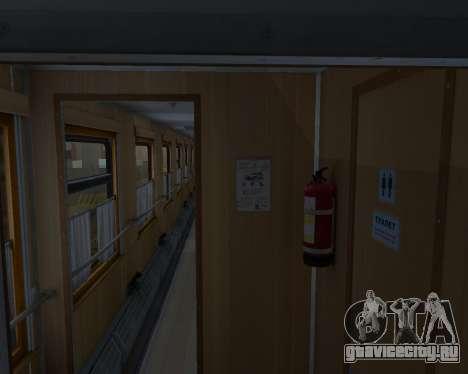Купейный вагон Украинских Железных дорог для GTA San Andreas вид сбоку