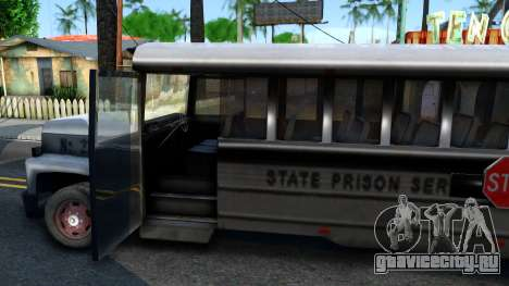 Prison Bus Driver Parallel Lines для GTA San Andreas вид изнутри