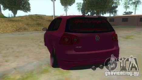 Volkswagen Golf MK для GTA San Andreas вид сзади слева