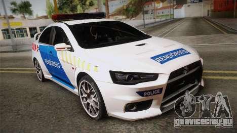 Mitsubishi Lancer Evo X Rendőrség для GTA San Andreas