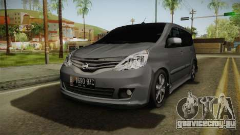 Nissan Grand Livina Highway Star для GTA San Andreas