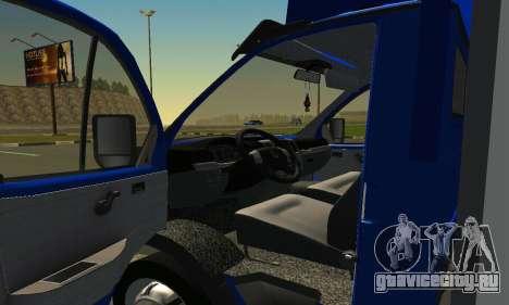 Газель 3302 Бизнес для GTA San Andreas вид справа