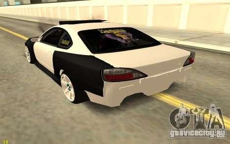 Nissan Silva S15 для GTA San Andreas вид сзади слева