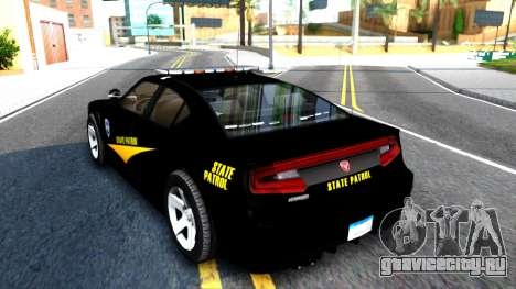 Bravado Buffalo State Patrol 2013 для GTA San Andreas вид сзади слева