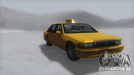 Taxi Winter IVF для GTA San Andreas