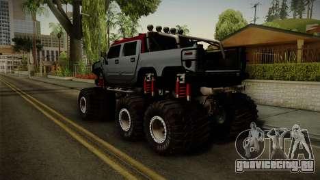 Hummer H2 6x6 Monster для GTA San Andreas вид слева