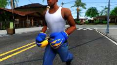 Blue With Flames Boxing Gloves Team Fortress 2