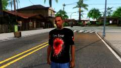 Black I am Fine T-Shirt для GTA San Andreas