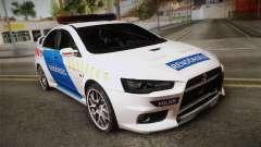 Mitsubishi Lancer Evo X Rendőrség