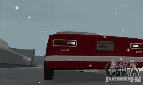 ВАЗ 2101 Снежная версия для GTA San Andreas вид изнутри