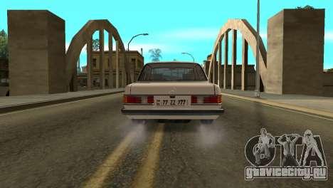 Mersedes-Benz E123 Armenia для GTA San Andreas вид сзади слева