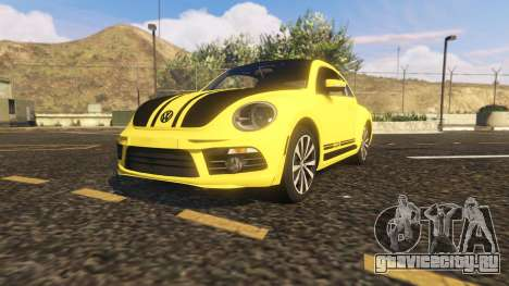 Limited Edition VW Beetle GSR 2012 для GTA 5 вид сзади
