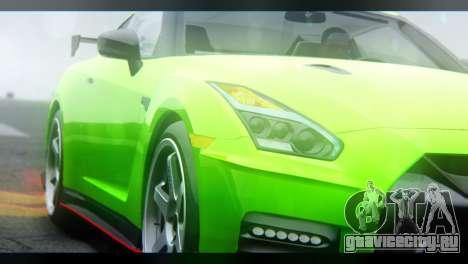 Nissan GT-R Nismo 2017 для GTA San Andreas вид справа