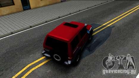 Mitsubishi Pajero Off-Road 3 Door для GTA San Andreas вид сзади
