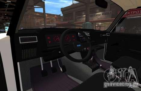 VAZ 2107 AZELOW для GTA 4 вид сзади