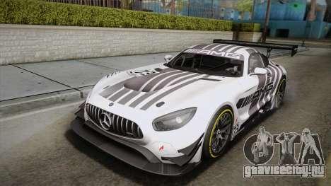 Mercedes-Benz AMG GT3 2016 PJ для GTA San Andreas вид справа