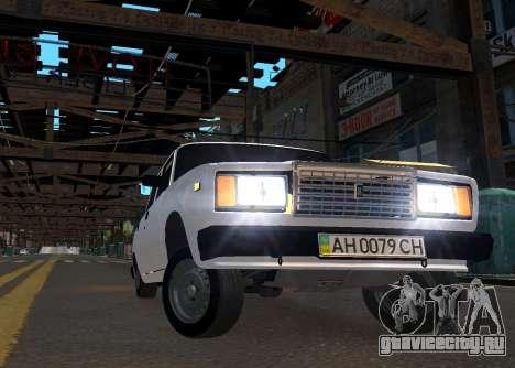 VAZ 2107 AZELOW для GTA 4 вид сбоку