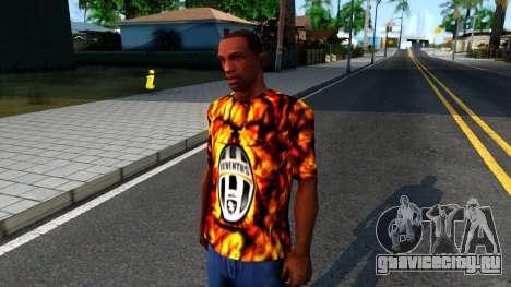 Juventus Flame T-Shirt для GTA San Andreas