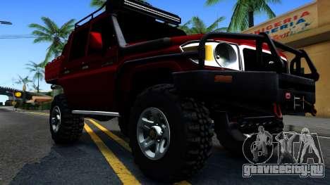 Toyota Land Cruiser 70 Off-Road V2.0 для GTA San Andreas вид изнутри