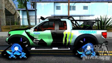 Ford F-150 SVT RaptorTRAX 2012 Ken Block для GTA San Andreas вид слева