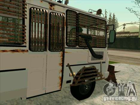 PAZ-32053 For the zombie Apocalypse для GTA San Andreas вид снизу