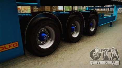 Car Trailer JTZ для GTA San Andreas вид сзади