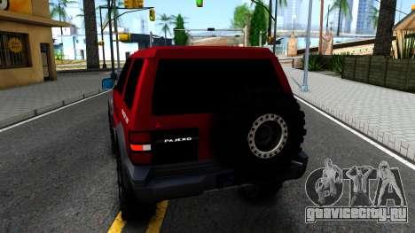 Mitsubishi Pajero Off-Road 3 Door для GTA San Andreas вид сзади слева