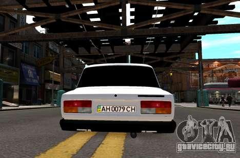 VAZ 2107 AZELOW для GTA 4 вид сверху