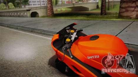 GTA 5 Hakuchou Drag для GTA San Andreas вид сзади слева