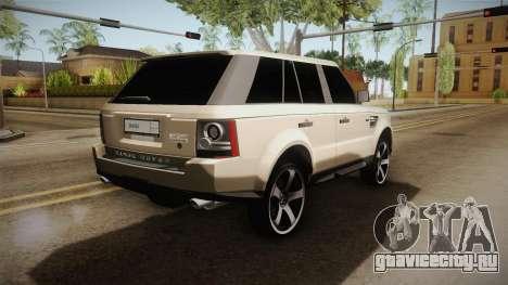 Land Rover Range Rover 2015 Sport для GTA San Andreas вид справа