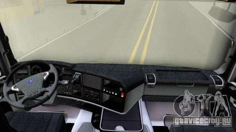 Scania R450 Streamline для GTA San Andreas вид изнутри