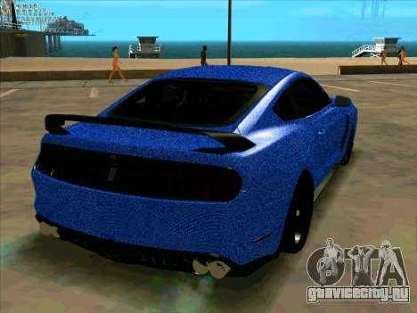 Ford Mustang BLUE STYLE для GTA San Andreas вид справа