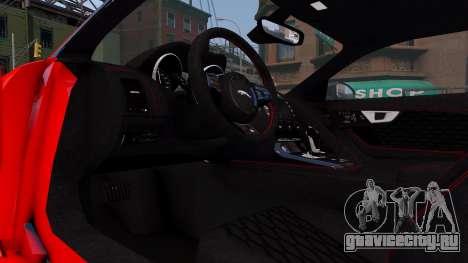 Jaguar F-Type SVR v1.0 2016 для GTA 4 вид изнутри