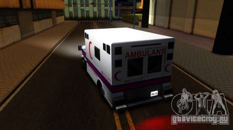 Ambulance Malaysia для GTA San Andreas вид сзади слева