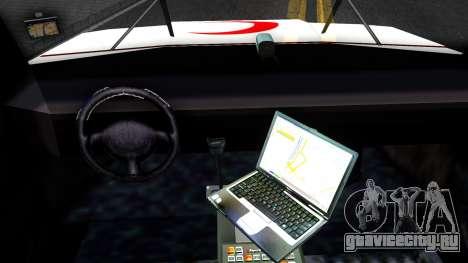 Ambulance Malaysia для GTA San Andreas вид изнутри