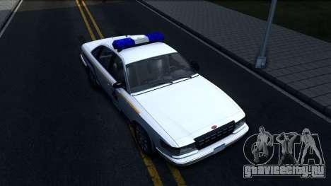 Vapid Stanier Hometown Police Department 2004 для GTA San Andreas вид справа