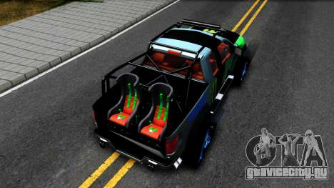 Ford F-150 SVT RaptorTRAX 2012 Ken Block для GTA San Andreas вид сзади