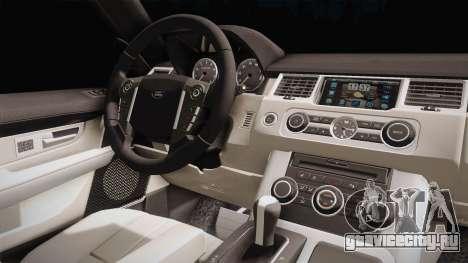 Land Rover Range Rover 2015 Sport для GTA San Andreas вид изнутри