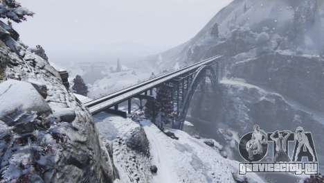 Christmas in Singleplayer (Snow Mod) 1.01 для GTA 5