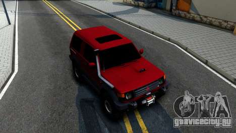 Mitsubishi Pajero Off-Road 3 Door для GTA San Andreas вид справа