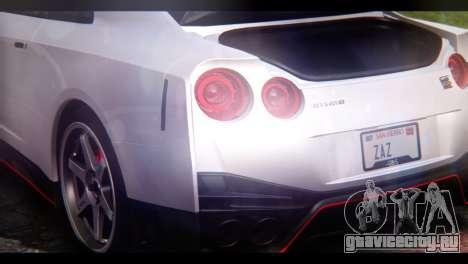 Nissan GT-R Nismo 2017 для GTA San Andreas вид изнутри