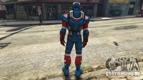 Iron Man Patriot для GTA 5 третий скриншот