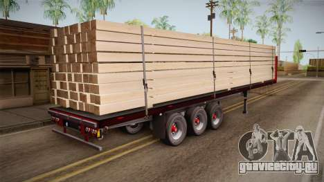 Flatbed Trailer Red для GTA San Andreas вид сзади слева