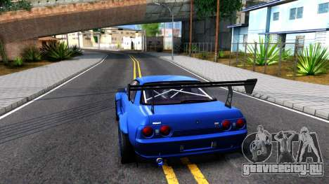 Nissan Skyline GTR R32 Rocket Bunny для GTA San Andreas вид сзади слева