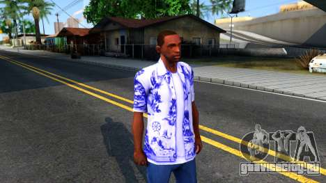 New Hawaii Shirt для GTA San Andreas второй скриншот