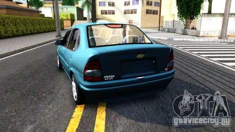 Chevrolet Corsa Classic 2009 для GTA San Andreas вид сзади слева