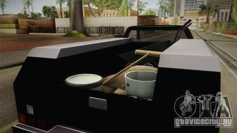 GTA 5 Vapid Utility Van для GTA San Andreas вид изнутри