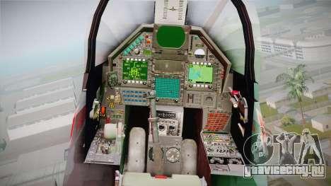 EMB Dassault Mirage 2000-N FAB для GTA San Andreas вид сзади